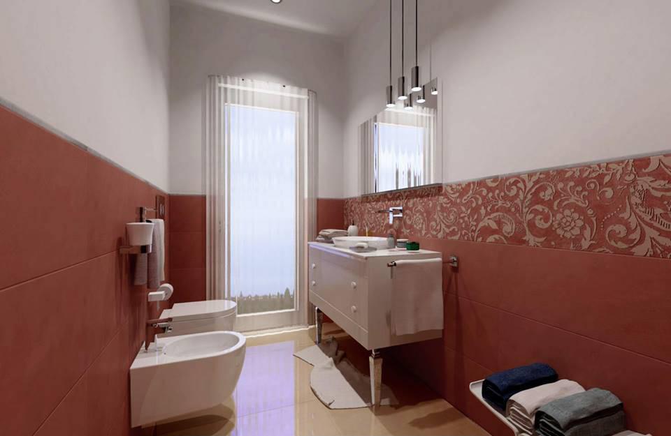 Bagno con piastrelle a motivo esagonale bagno in stile in stile moderno di facile ristrutturare - Pannelli copri piastrelle bagno ...