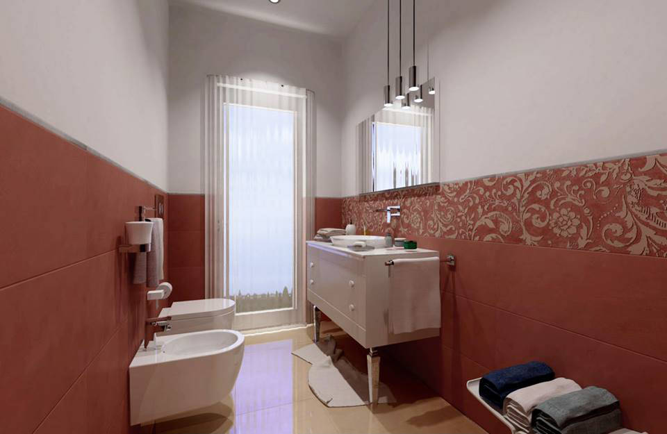 Design altezza rivestimento bagno galleria foto delle - Altezza mattonelle bagno ...