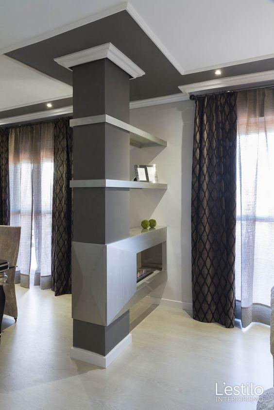 come rendere un pilastro una soluzione d 39 arredo 14 idee che funzionano. Black Bedroom Furniture Sets. Home Design Ideas