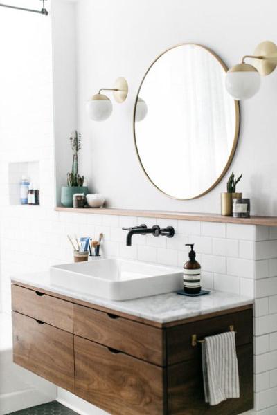 Specchio rotondo per bagno