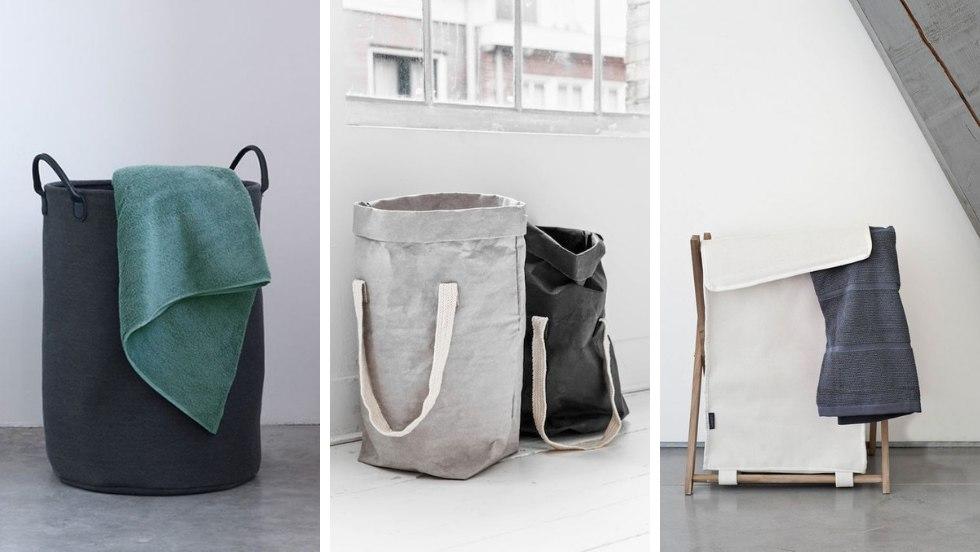 12 Modelli di ceste portabiancheria per bagni e lavanderie di ogni stile