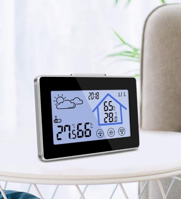 Igrometro digitale con stazione meteo