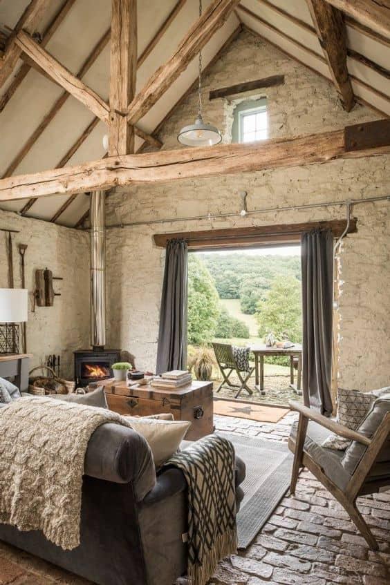 Arredo rustico vecchia casa di campagna
