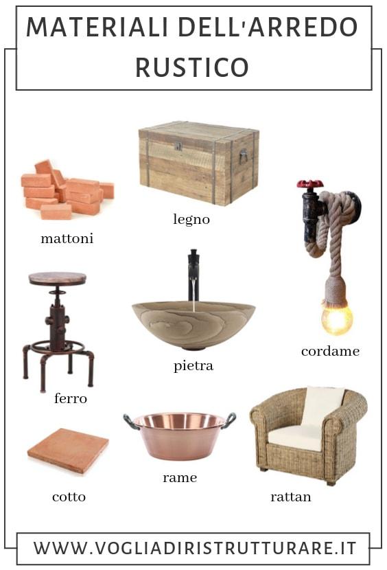 Materiali dell'arredo rustico