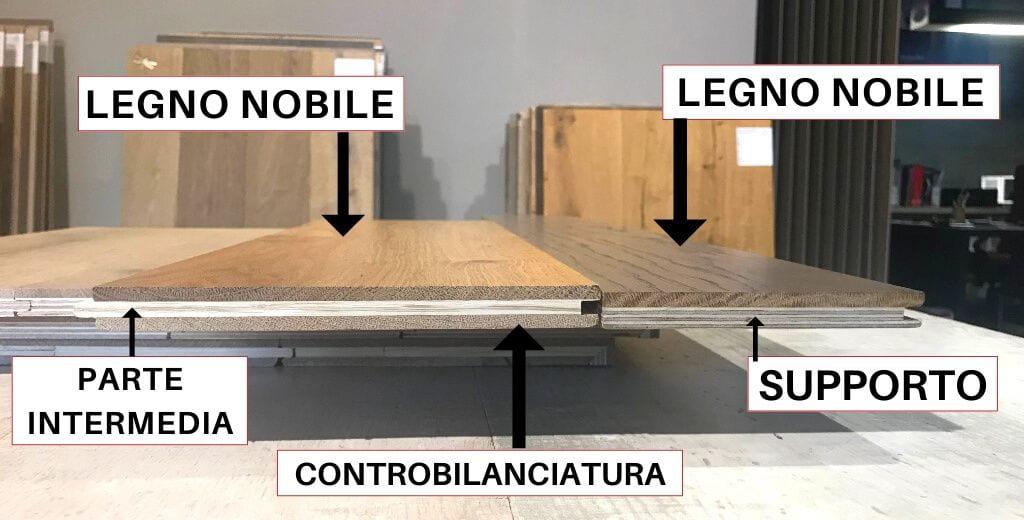 pavimento in legno prefinito 2 e 3 strati
