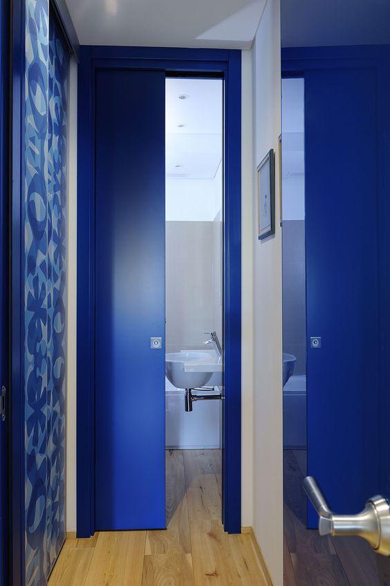 Porta scorrevole per bagno