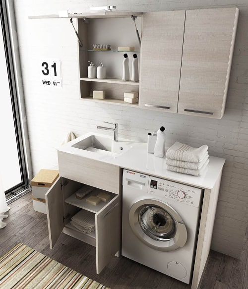 Mobile lavatrice per piccoli spazi