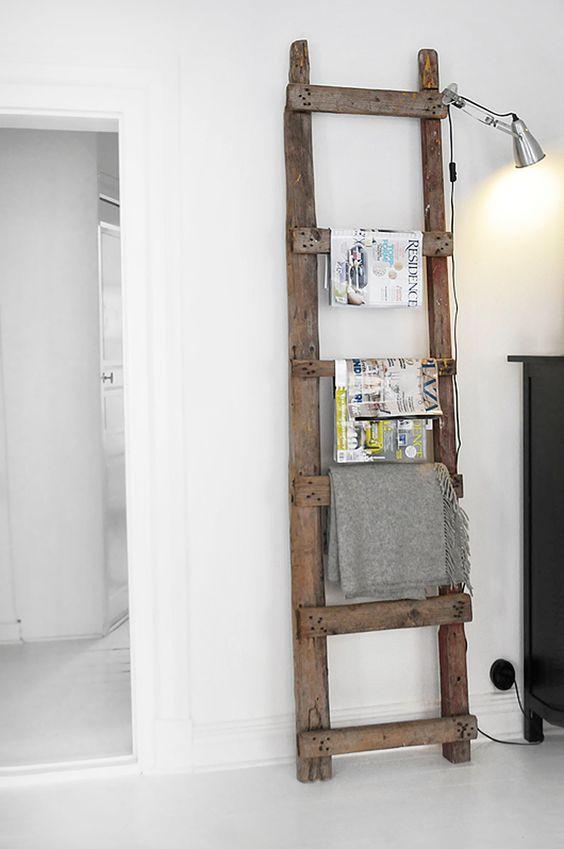 Scala in legno portatutto