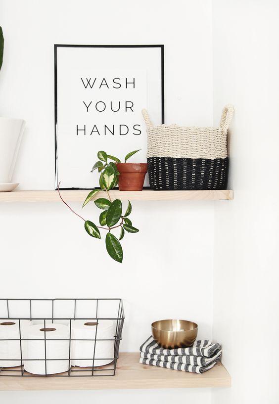 Mensole salvaspazio per piccoli bagni