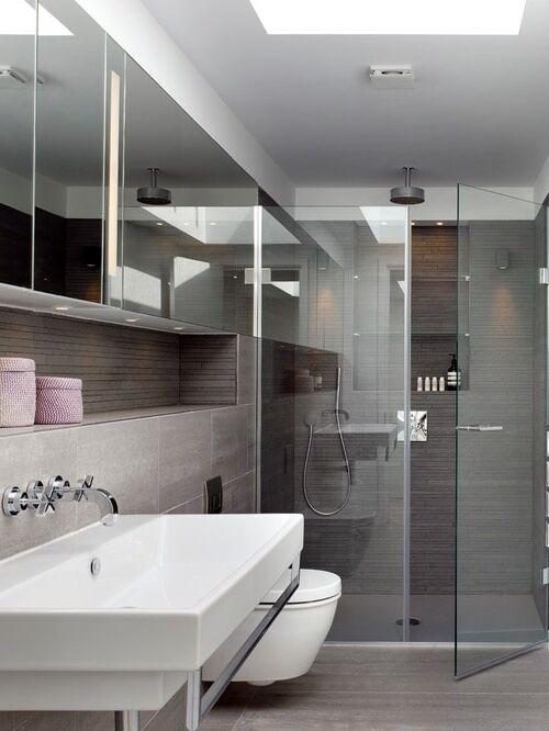 Bagno moderno colore grigio