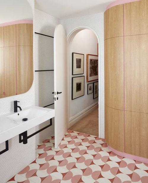 Pavimento anni 60 in bagno