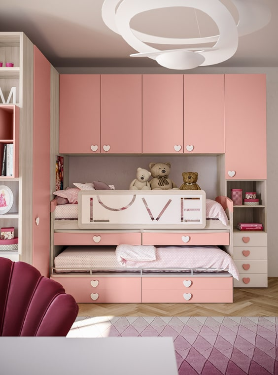 Mobile per piccole camere da letto