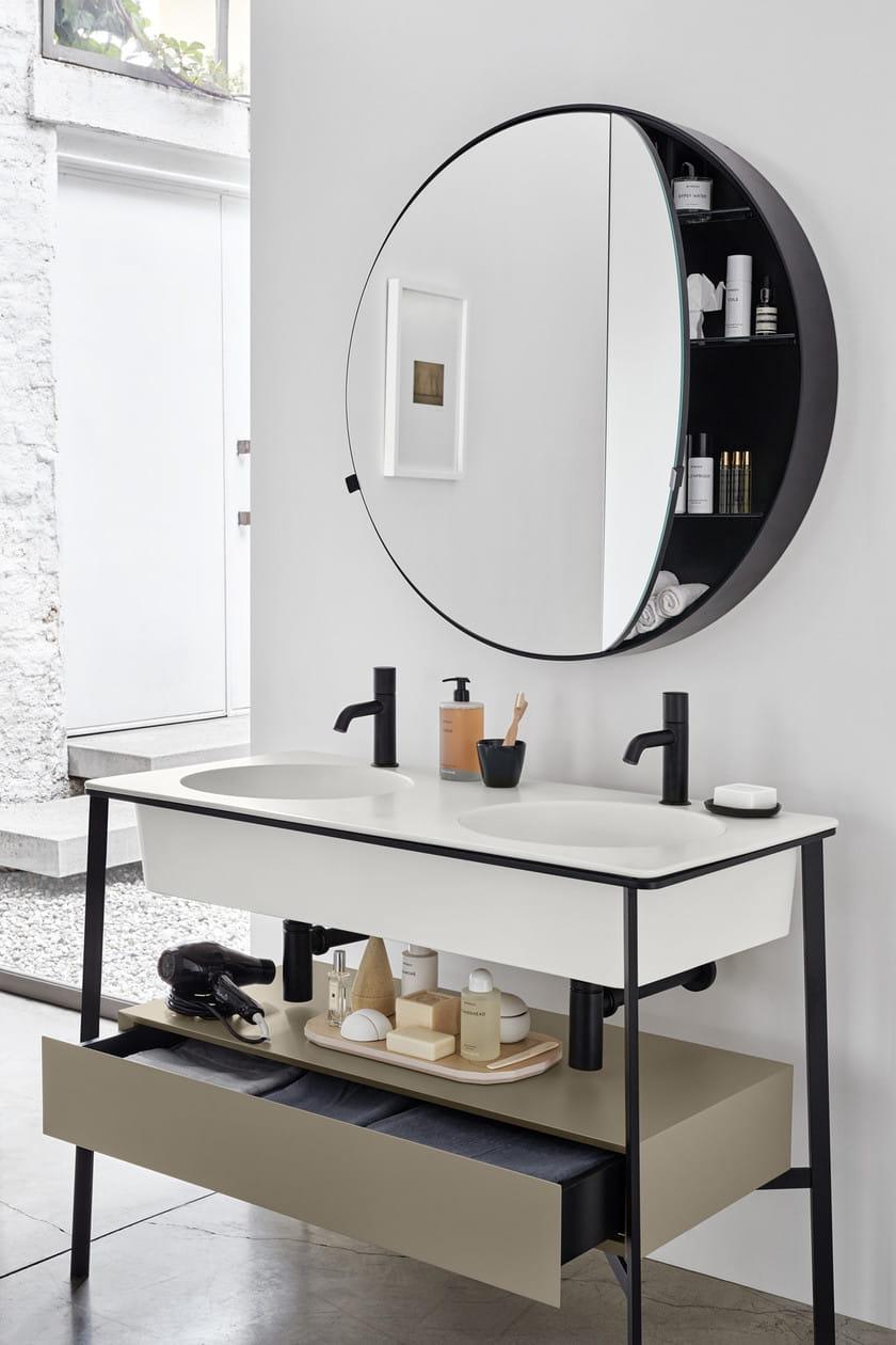 Specchio contenitore portaoggetti