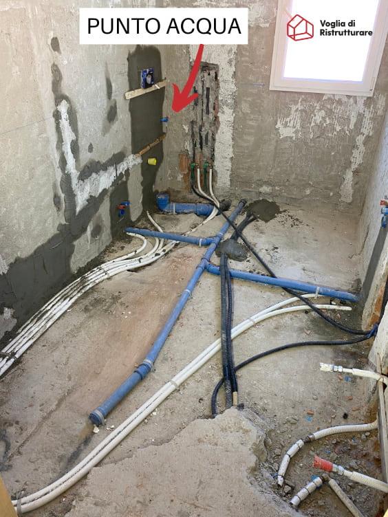 Impianto idraulico bagno