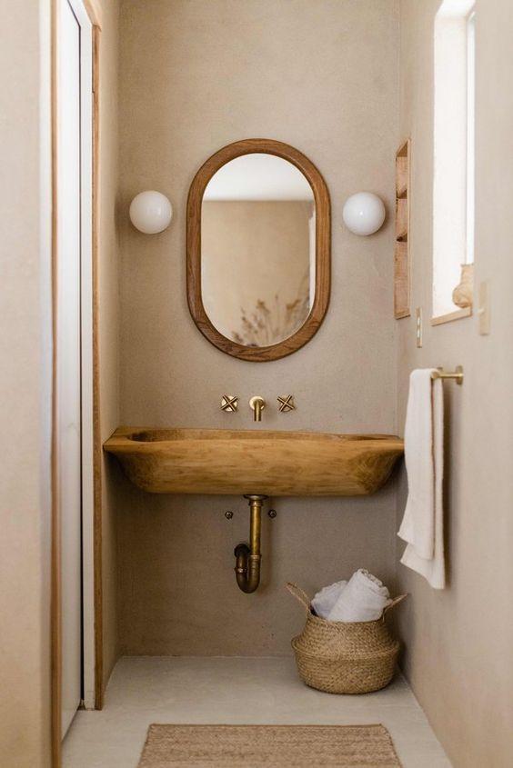 arredo piccolo bagno rustico