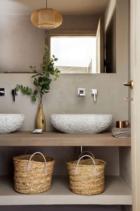 zona lavabo stile country