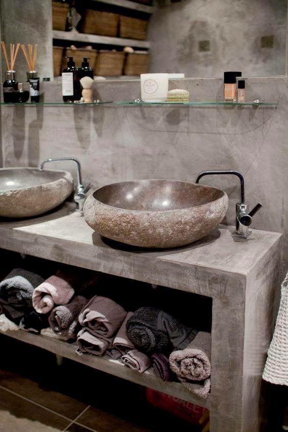 lavabo in pietra per bagno country