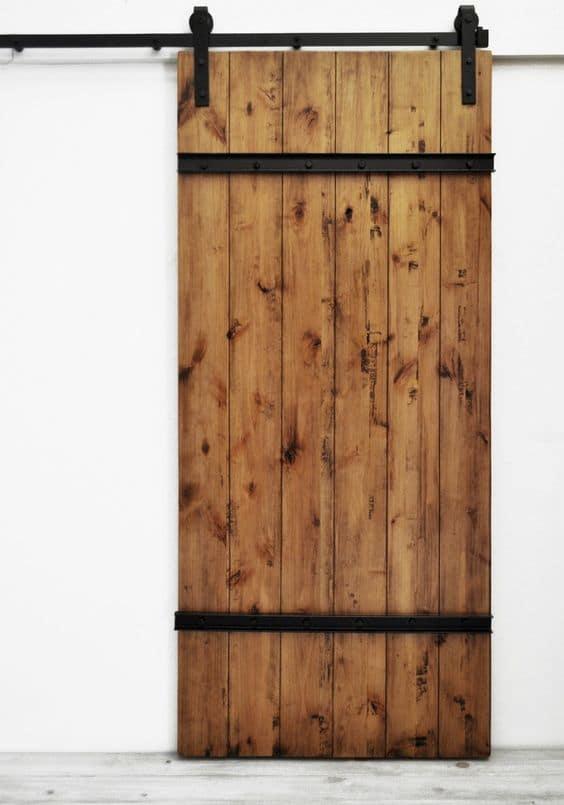 barn door per bagno country