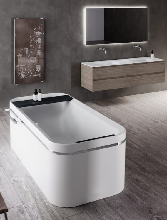 vasca da bagno free-standing grande