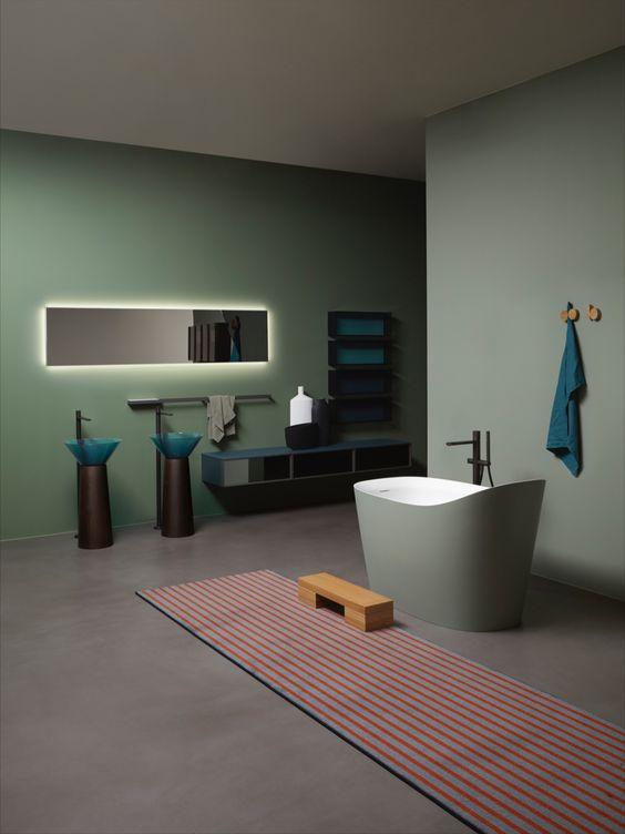 bagno con arredo Antonio Lupi