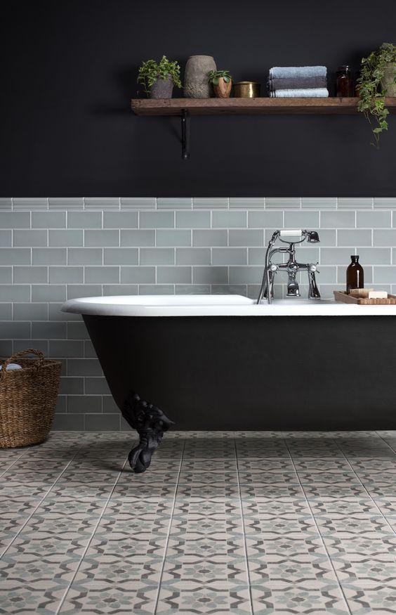 vasca da bagno freestanding nera