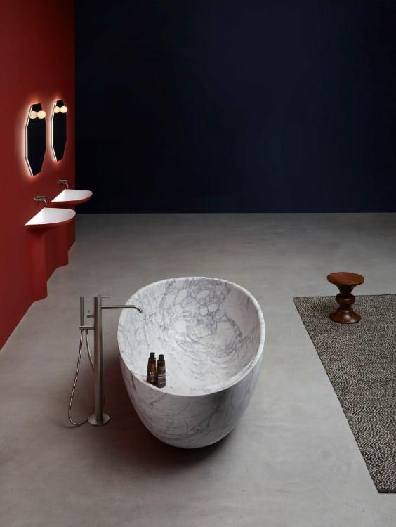 vasca autoportante in marmo