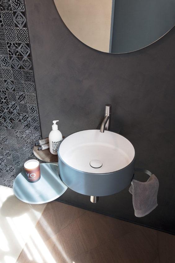lavabo salvaspazio di design