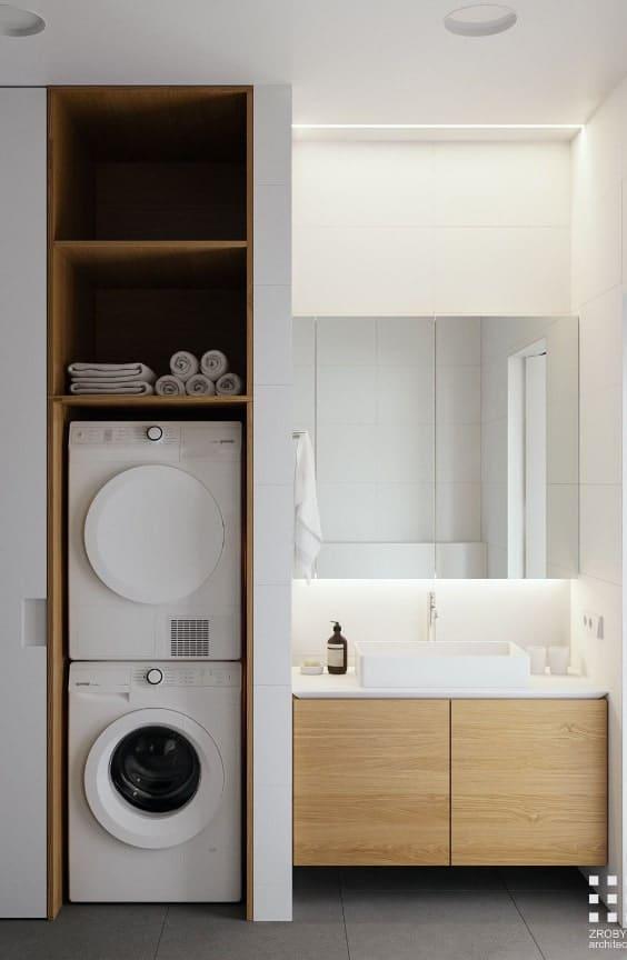 soluzione salvaspazio per lavatrice