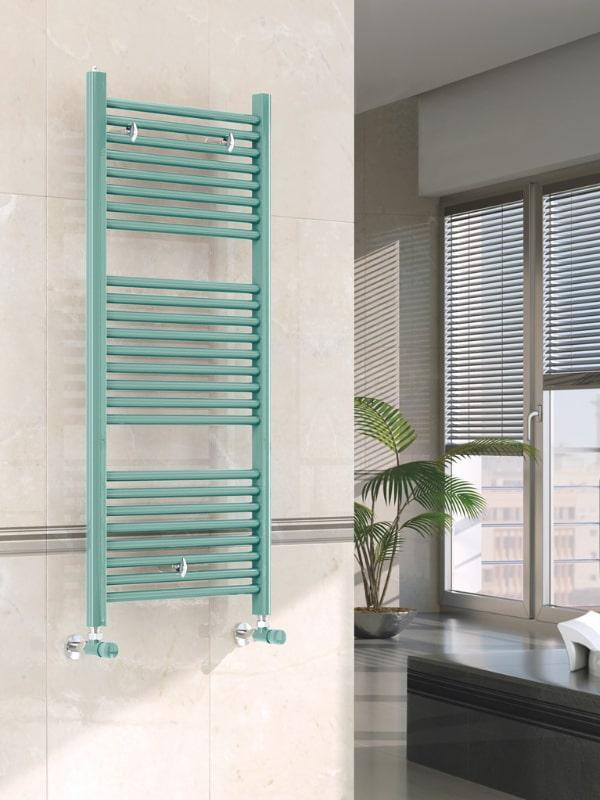 scaldasalviette verticale verde