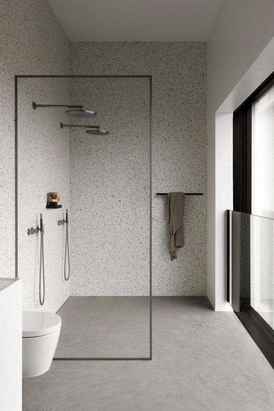 bagno con doccia filopavimento
