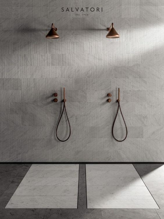 piatti doccia filo pavimento in marmo