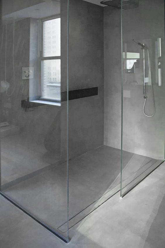 interno doccia in microcemento