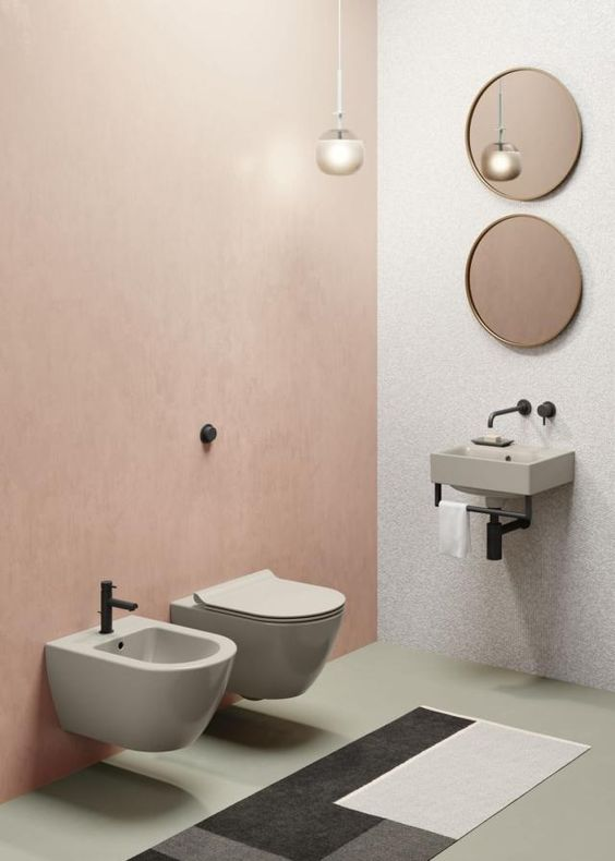 sanitari e lavabo sospeso