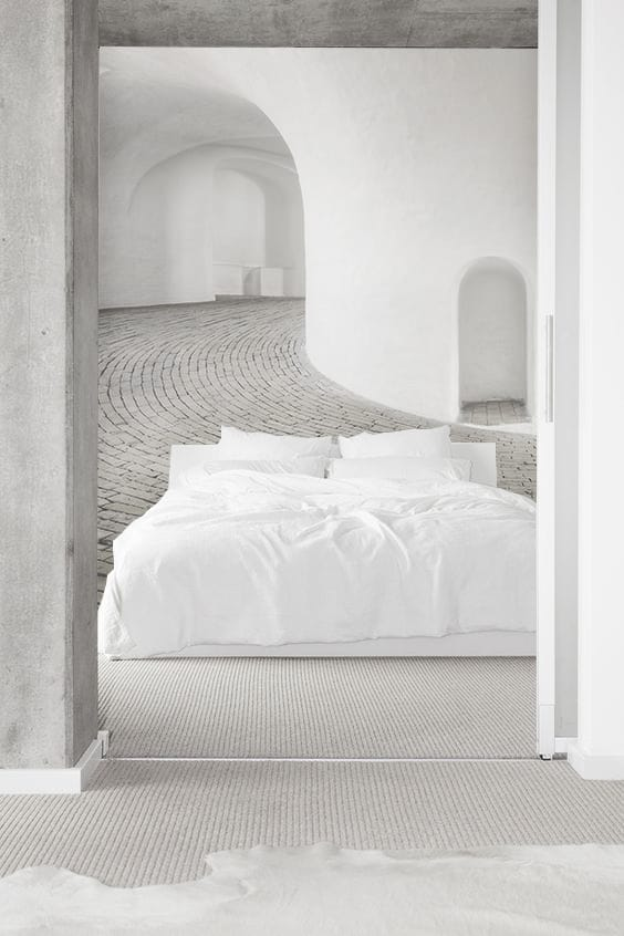 decorazione parete dietro il letto