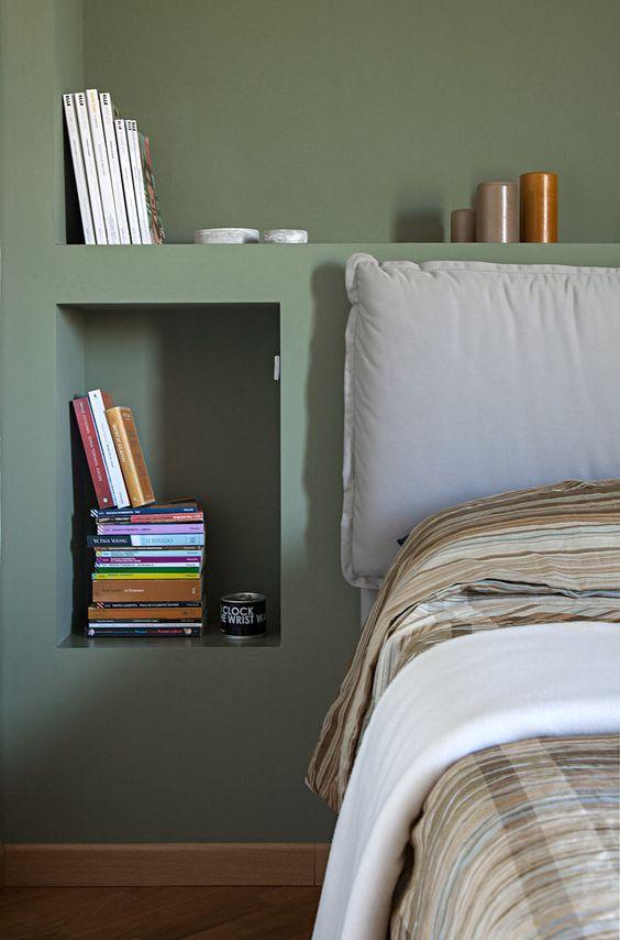 parete dietro letto in cartongesso