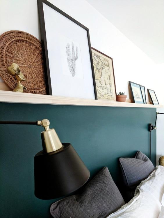 parete dietro il letto matrimoniale