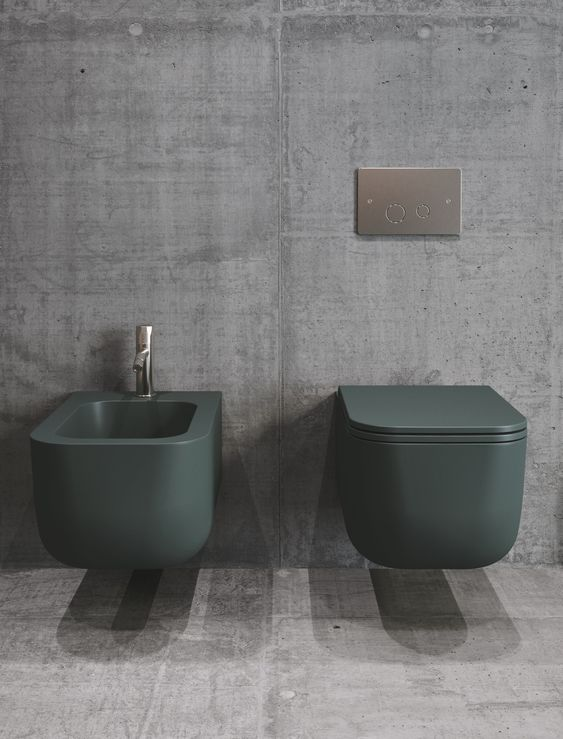 wc e bidet moderni colorati
