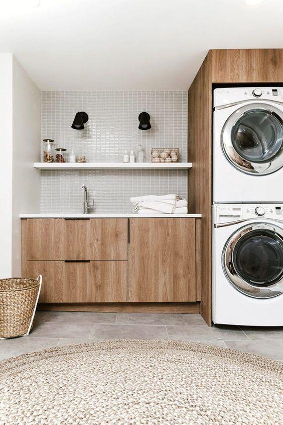 stanza arredata per lavanderia
