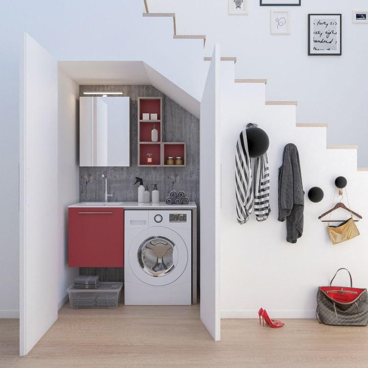 lavanderia nel sottoscala