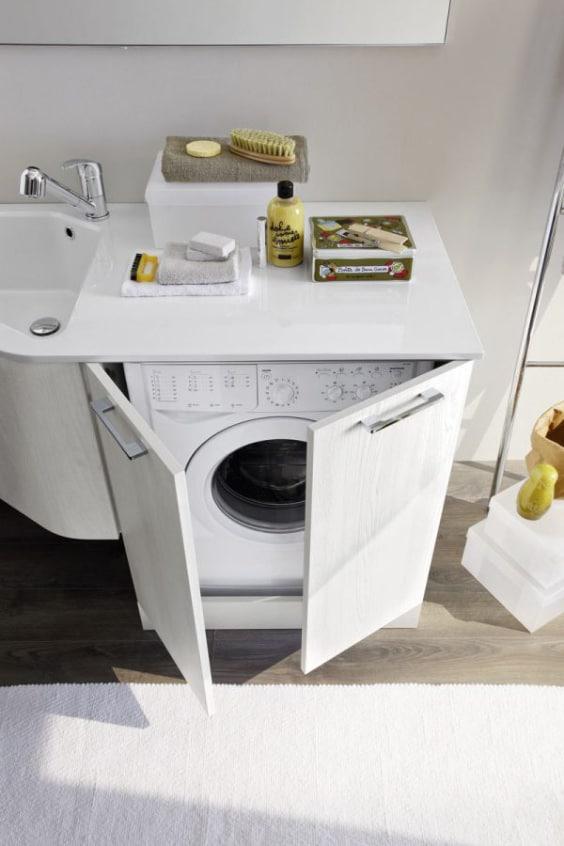 mobile lavatrice e lavabo