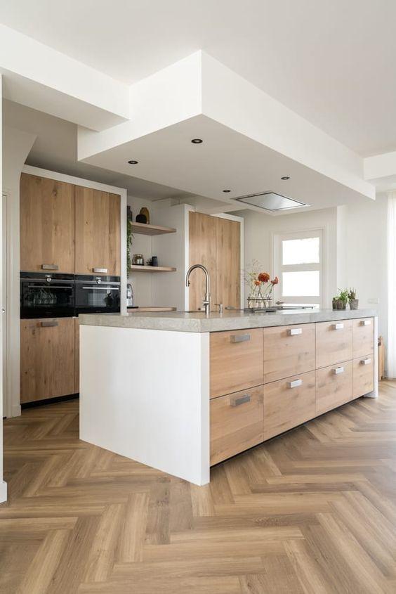 cucina domestica contemporanea