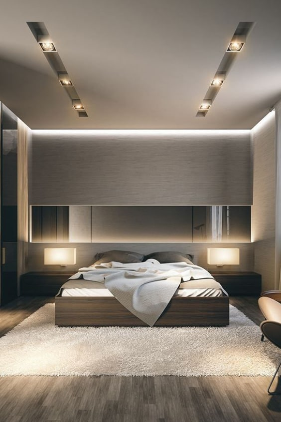camera da letto con abbassamento in cartongesso