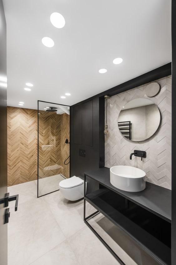 bagno moderno con controsoffitto